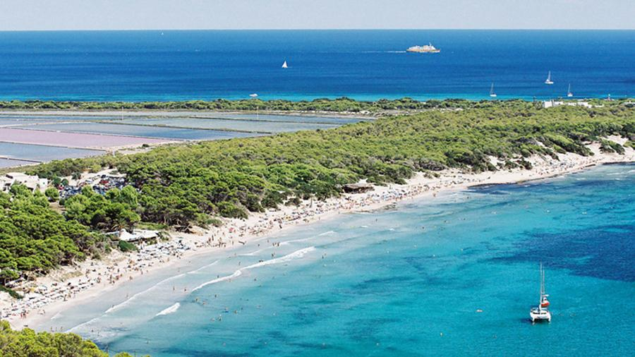 Salines beaches around Ibiza